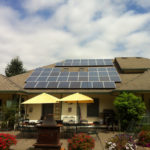 home solar panel installation in Oregon on a sunny day
